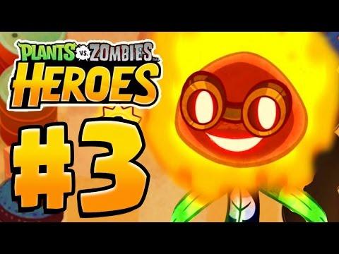 SOLAR FLARE HERO UNLOCKED | Plants Vs Zombies Heroes Gameplay Walkthrough Part 3 (PvZ Heroes Ep 3)