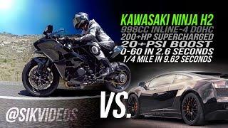 Kawasaki Ninja H2 vs. UGR TT Lamborghini