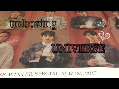 unboxing EXO winter special album UNIVERSE