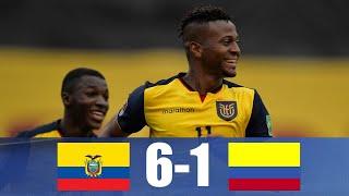 Ecuador 6-1 Colombia   Fecha 4   Eliminatorias Conmebol Qatar 2022