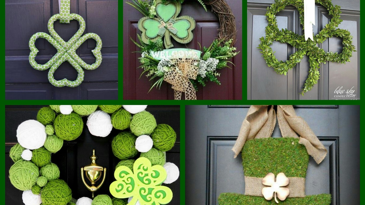 Decorating With Green St Patricks Wreath Ideas Spring Decorating Ideas Saint