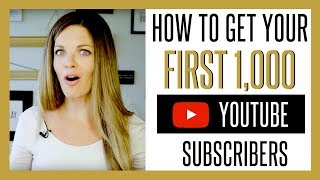 Video How to Get Your First 1000 YouTube Subscribers FAST 2017 download MP3, 3GP, MP4, WEBM, AVI, FLV September 2018