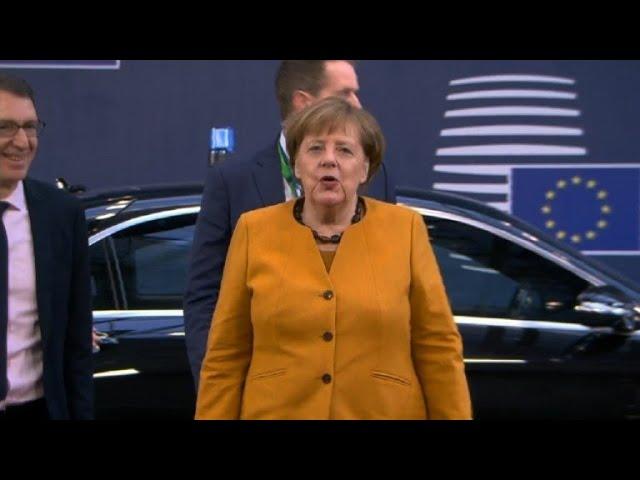 European leaders arrive for EU Council summit