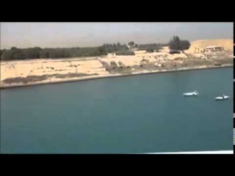 Passing through Suez Canal