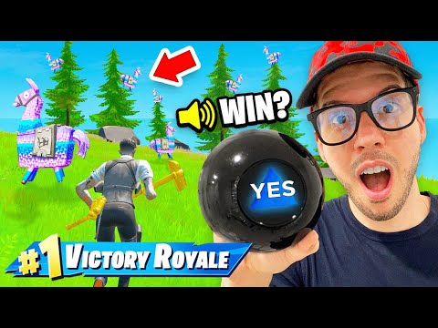 Using MAGIC 8 BALL to WIN in Fortnite! (CRAZY)