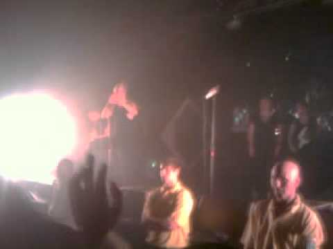 The Blackout - Thanking us & singing Hope (Lincoln Engine Shed 1/11/11)