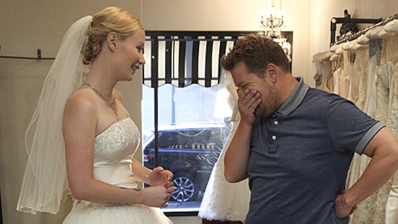 Iggy Azalea & James Corden Wedding Dress Shopping ...