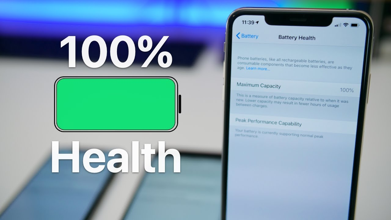 100 Percent iPhone Battery Health - How I do it - YouTube