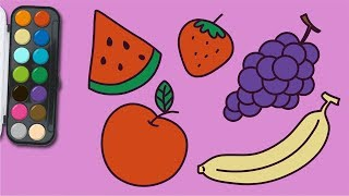 how to draw fruit | easy drawing | learn Coloring for Kids