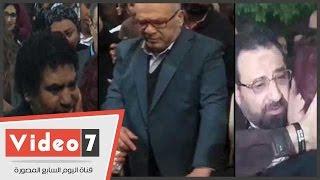 صلاح عبد الله و عدوية و مجدى عبد الغنى وأحمد حسن فى عزاء حسن مختار