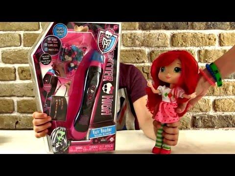 Монстр Хай и Шарлотта Земляничка. Прически для кукол. Парикмахерская Монстр Хай.Игры для девочек.