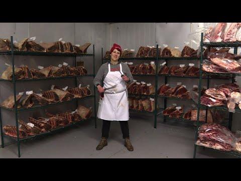 International Women's Day: Portrait of a female butcher