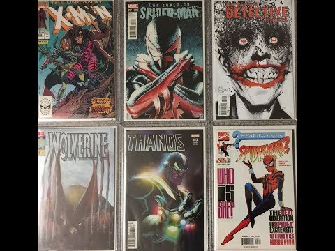 My 1st big comic book haul of 2018-speculations, hot variants and minor keys