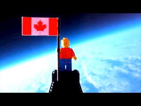 Lego Man Flies To The Edge Of Space