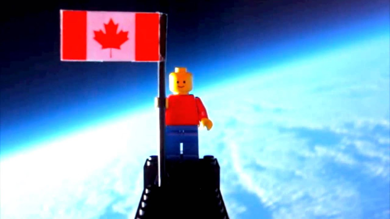Lego Man Flies To The Edge Of Space - YouTube