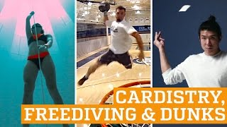 TOP THREE: Cardistry, Freediving & Dunks | PEOPLE ARE AWESOME