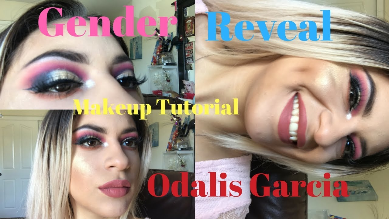 Gender Reveal Makeup Tutorial Odalis Garcia Youtube
