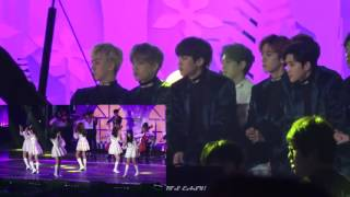 exo 엑소 reaction to gfriend 여자친구 melon music awards 2016 fancam version