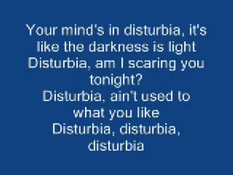disturbia - rihanna lyrics