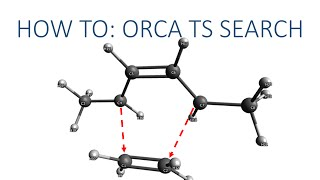 Avogadro with ORCA Tutorial: TS Search