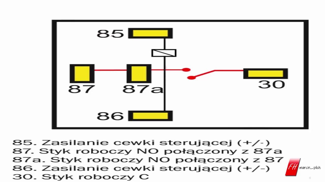 Podłączenie przekaźnika 5-pinowego
