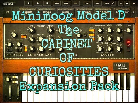 Moog MINIMOOG Model D - The CABINET OF CURIOSITIES Pack - Demo for the iPad