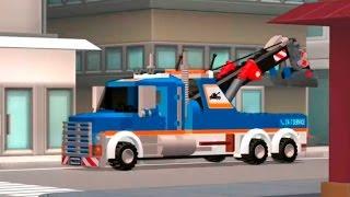 Мультики про машинки - Эвакуатор Полицейская машина и Пожарная машина.  Lego City Лего Сити