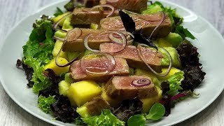 Изысканный салат с тунцом|Рецепт приготовления филе тунца