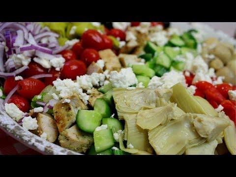 GREEK STYLE COBB SALAD!  EASY SUMMER EATING!!