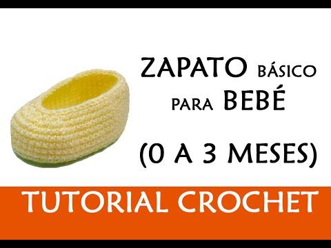 PATRÓN CROCHET: ZAPATITO BASICO PARA BEBE (0 A 3 MESES) | Patrones ...