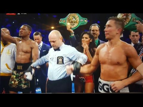 (SHOCKER!) GOLOVKIN VS JACOBS FULL FIGHT POST TALK W DBN