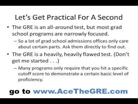What do I need to know about the GRE?