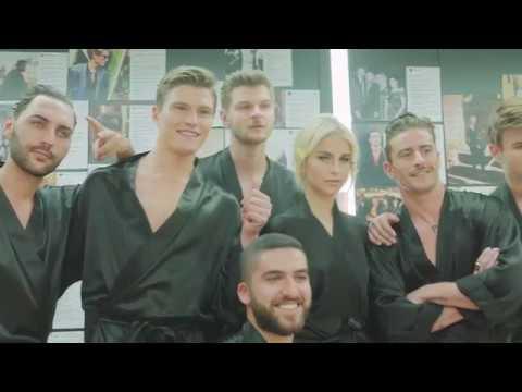 Dolce & Gabbana Herbst-Winter  Herren Modenschau Backstage.