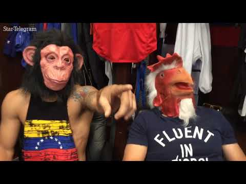 Rangers keep loose with animal masks in clubhouse