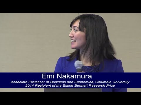Talk by 2014 Elaine Bennett Research Prize Recipient, Emi Nakamura, Columbia University