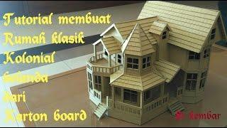 tutorial membuat miniatur rumah dari karton board