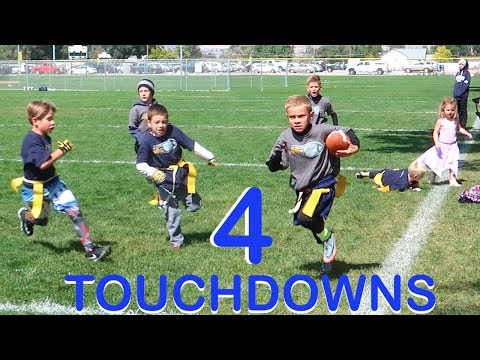 KID SCORES 4 TOUCHDOWNS IN 1 FOOTBALL GAME!🏈🏈🏈🏈