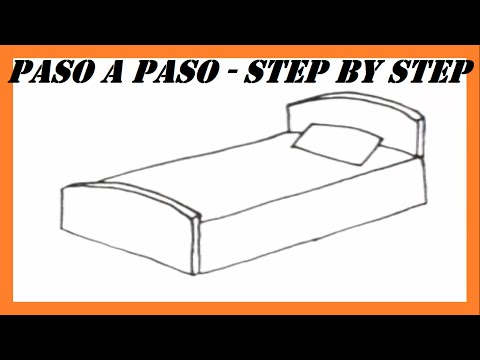 how to draw a hospital bed step by step