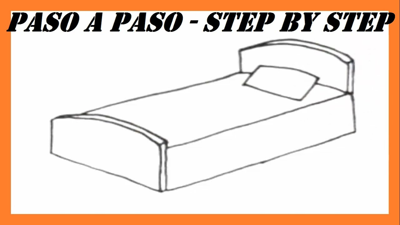 Como dibujar una cama paso a paso l how to draw a bed step for Dormitorio para dibujar facil