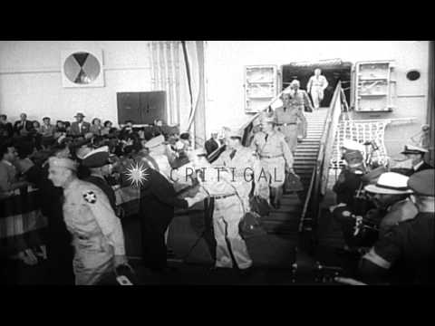 Armistice agreement brings the Korean War to a halt, Panmunjon, Korea. HD Stock Footage