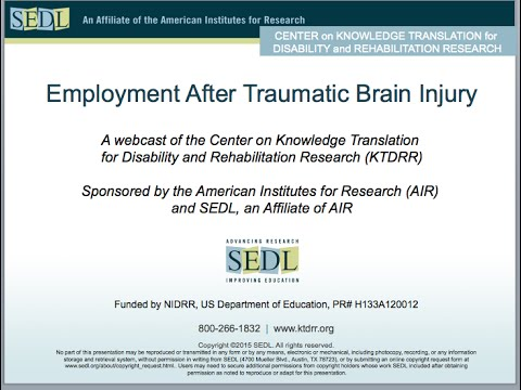 Employment After Traumatic Brain Injury