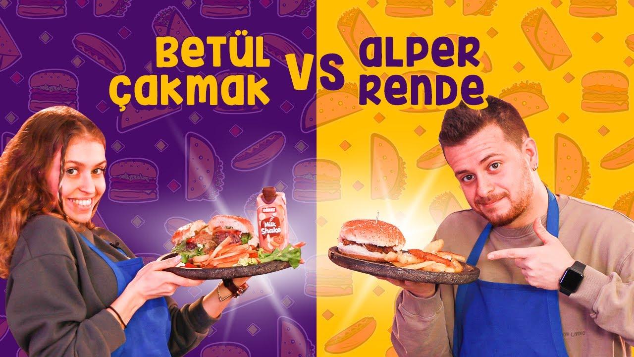 Cheeseburger Yapmak Hiç Bu Kadar Zor Olmamıştı 😥 Alper Rende vs Betül Çakmak -Büyük Mutfak Kapışması
