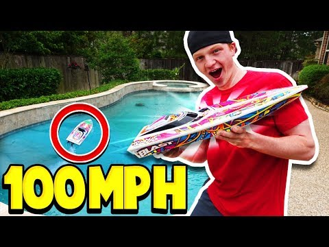 100MPH RC BOAT vs MY POOL! *bad idea*