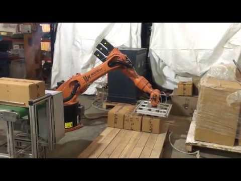 Robotic Case Palletizing Trails  - Modtech Machines