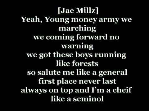 young money   salute  lyrics on screen