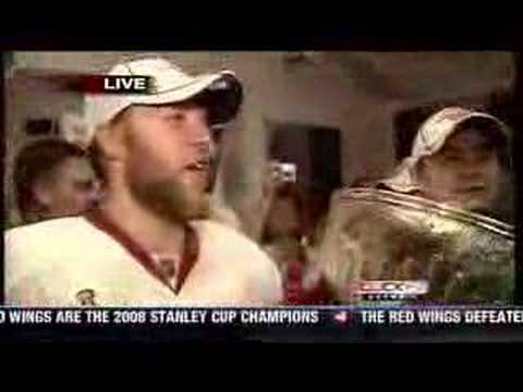 Draper interview and players drinking from the Cup