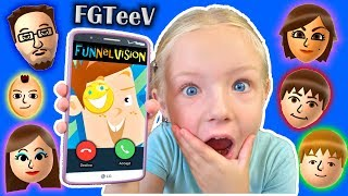 Calling FGTeeV - FUNnel Vision Family *OMG* They Answer!! Roblox Game (Skit)