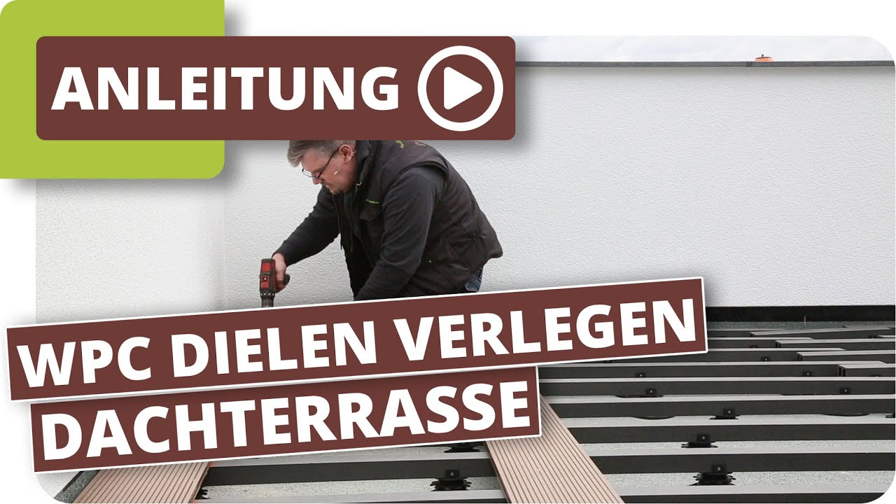 dachterrasse bodenbelag wpc terrassendielen von planeo verlegen youtube. Black Bedroom Furniture Sets. Home Design Ideas