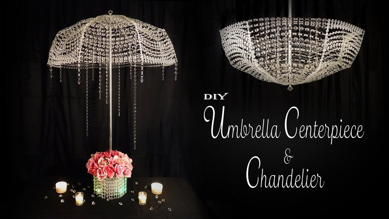 Youtube Christmas Decorating Ideas 2020 Tiffany Chandeliers Umbrella and Chandelier DIY / Party Decor / Sweet 16 Decor