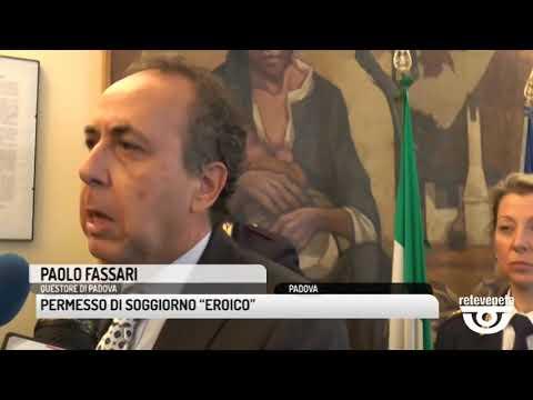 """TG PADOVA (08/04/2019) - PERMESSO DI SOGGIORNO """"EROICO"""""""